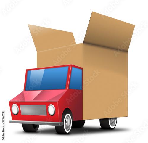 paketauto paket versand lkw truck post paketdienst stockfotos und lizenzfreie bilder auf. Black Bedroom Furniture Sets. Home Design Ideas