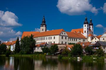 Castle Telc, town in the Czech republic