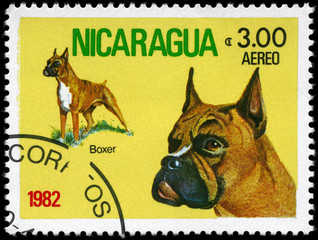 NICARAGUA - CIRCA 1982 Boxer