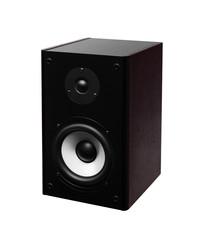 Image of speaker isolated over white background
