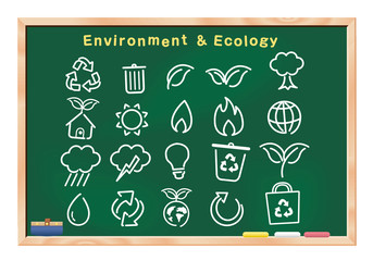 environment icons, buttons,board