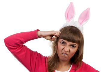girl with rabbit ears