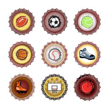 bottle caps set-sport