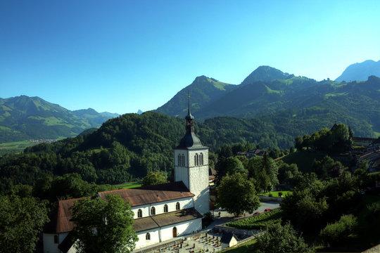Gruyères Church, Switzerland