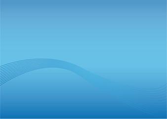 Hintergrund mit blauverlauf und Wellen  Vector, EPS