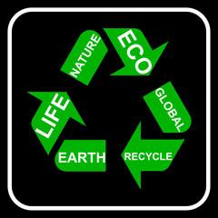Recycling symbol, vector