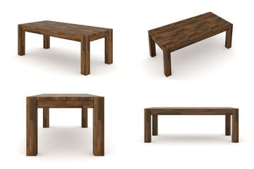 Holztisch Nussbaum