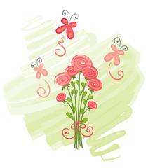 Bouquet and Butterflies