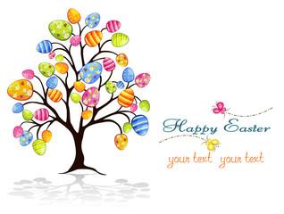 Albero di Pasqua con uova