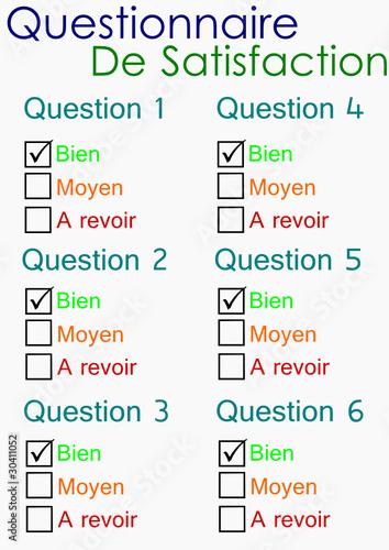 """""""Questionnaire de satisfaction"""" fichier vectoriel libre de ..."""