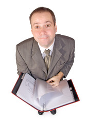 man with documents..