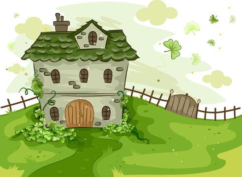 House Surrounded by Shamrocks