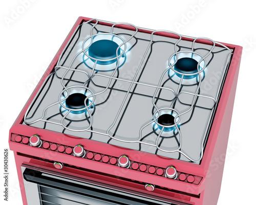 Fornelli Cucina A Gas Rossa Immagini E Fotografie Royalty Free Su File 30430626