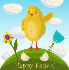 Happy easter background in vector