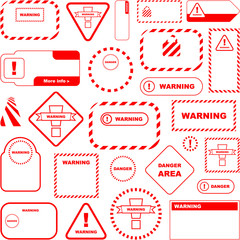 Warning vector signs. Big collection.