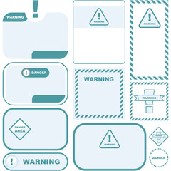 Warning vector signs.