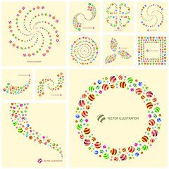 Abstract background with circle elements.