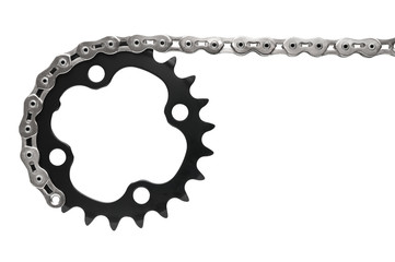 Bike drivetrain with chain