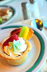 Delicious fruit tarts