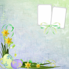 Spring or Easter background with frames
