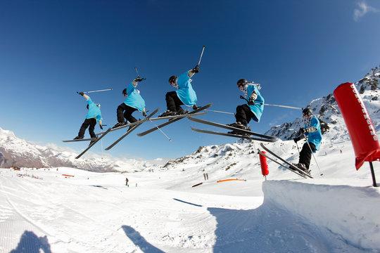 saut à ski photos en rafales