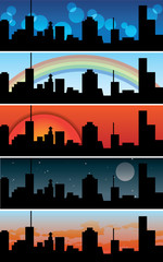 Town / urban banners - vector collection