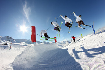 Figure ski freestyle 360°