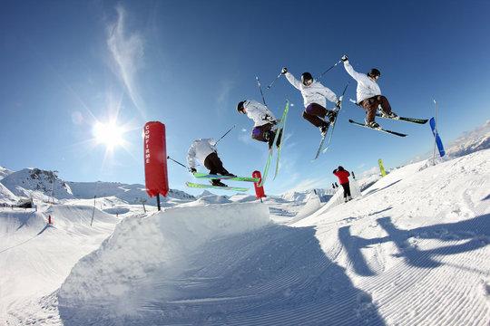 Figure ski freestyle 360°
