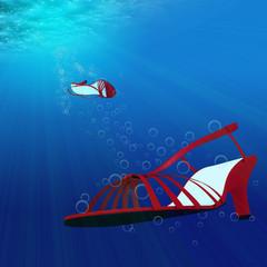 underneath the sea