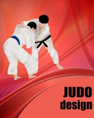 Judo design poster