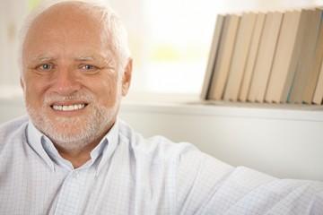 Portrait of happy pensioner