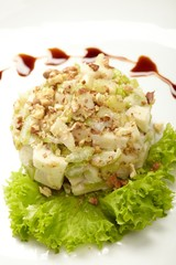 Salad from green apples