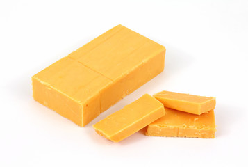 Sharp cheddar cheese with slices