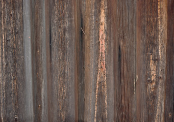 Weathered pine plank fence as grunge