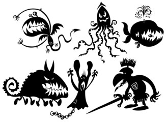 Some funny monstrous silhouettes.