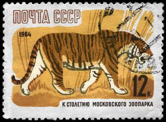 USSR - CIRCA 1964 Tiger