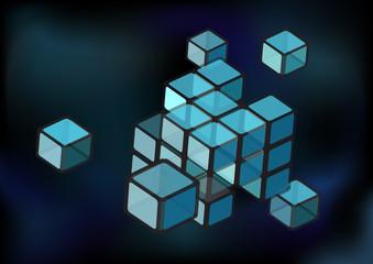 Construction of transparent cubes
