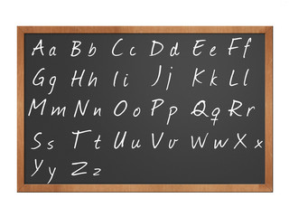 blackboard alphabet illustration