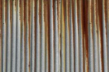 texture métal, tôle ondulée rouillée