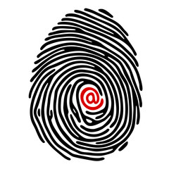 finger print with @ sign