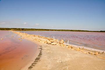 Halite lake in Coorong National park, Southern Australia