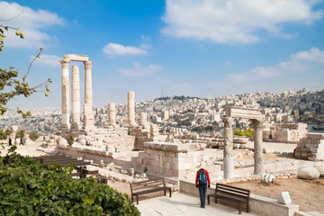 The Temple of Hercules in the Citadel, Amman, Jordan