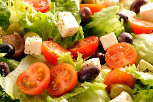 Salade verte compos e tomates olives fetas photo libre de droits sur la banque d 39 images - Salade verte composee ...
