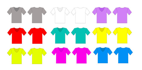 color tshirt vector set