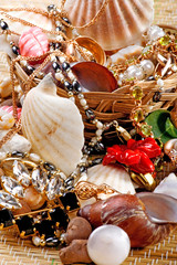 gold Jewelry with seashells