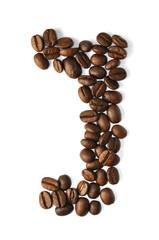Kaffee Bohnen - Buchstaben J