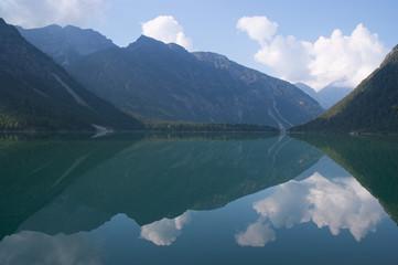 Plansees lake in Tyrolean Alps