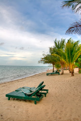 The Beautiful Beach on a Sunny Summer Day in Belize