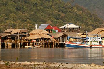 fishing village in Thailand, Bang Bao