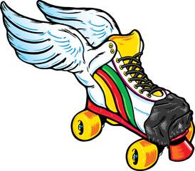 Retro Style Winged Roller Skate